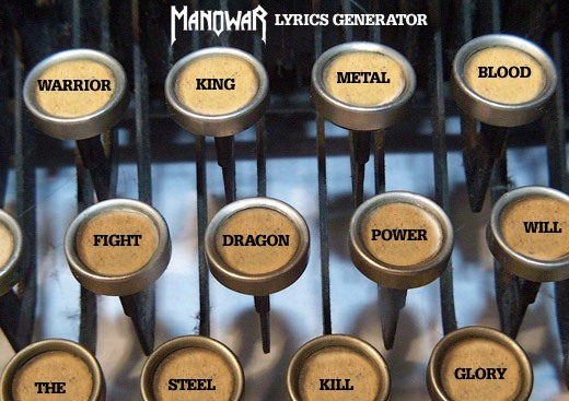 manowar lyrics generator