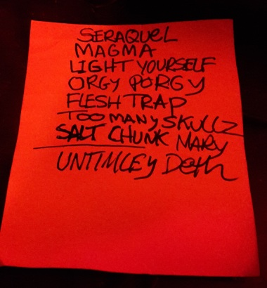 FJ setlist
