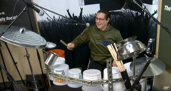 mike mangini bucket drum solo
