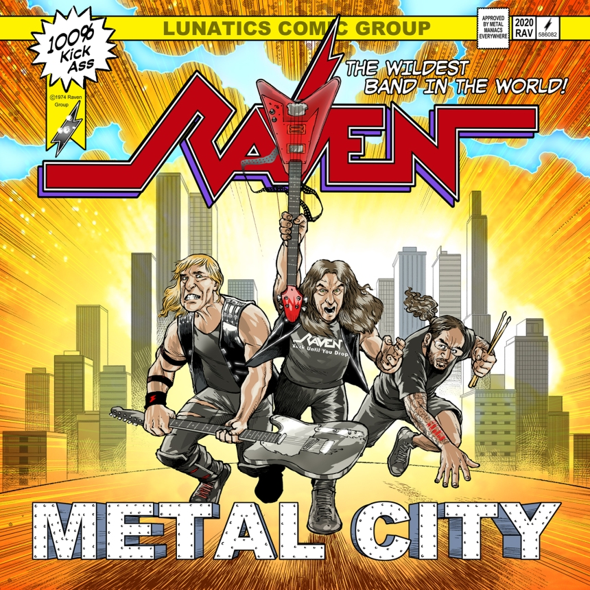 Raven - Metal city (front cover)